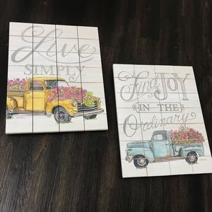 Wooden art pieces from Amish country
